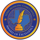 TMCA Municipal Clerks Office Award of Excellence