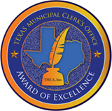 TMCA's Municipal Clerk's Office Achievement of Excellence Award