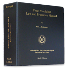 Cover of the Texas Municipal Law and Procedure Manual