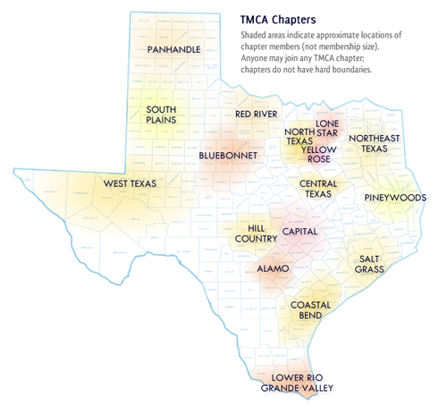 TMCA Chapters Map